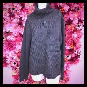 Eileen Fisher Grey Knit Sweater Size XL